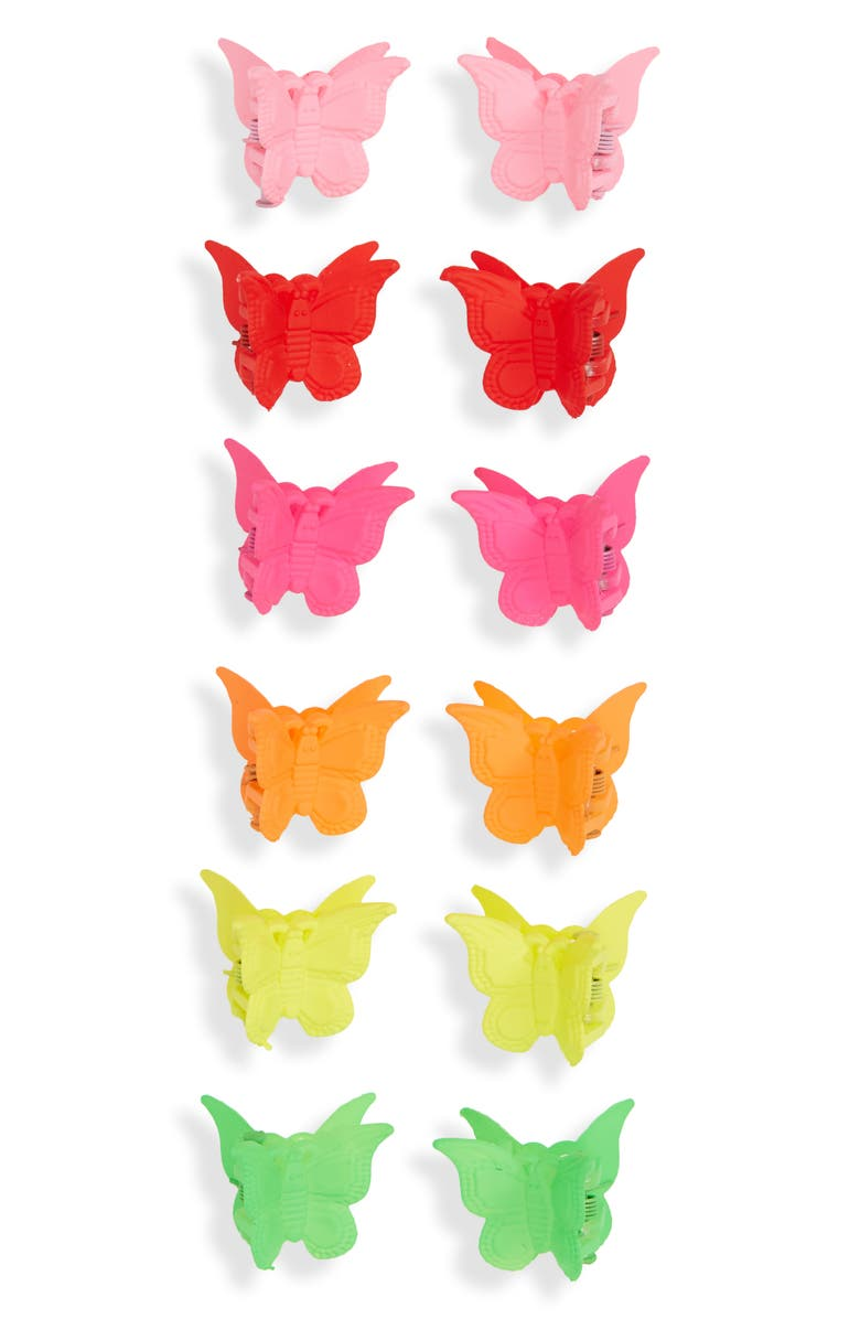 BP. 12-Pack Assorted Mini Butterfly Hair Clips, Main, color, MULTI
