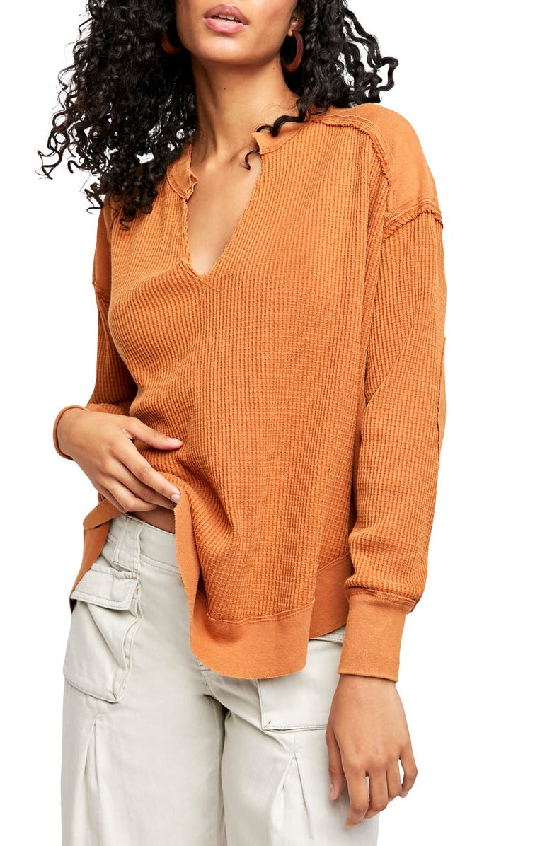 FREE PEOPLE Owen Thermal Knit Shirt, Main, color, 200