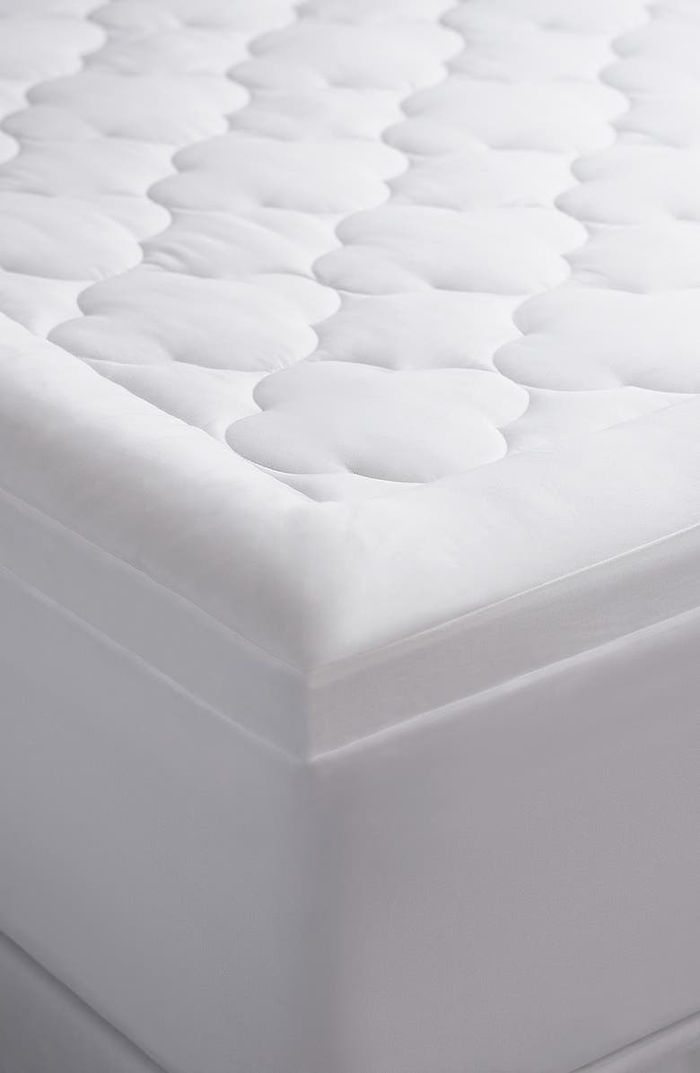 CLIMAREST Allied Home Ultimate Cloud Comfort Mattress Pad, Main, color, WHITE