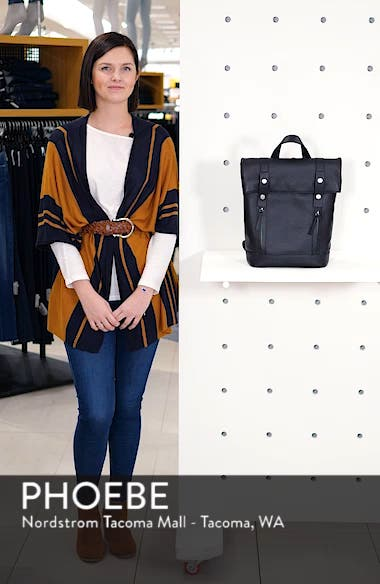 Remy Pebbled Leather Backpack, sales video thumbnail