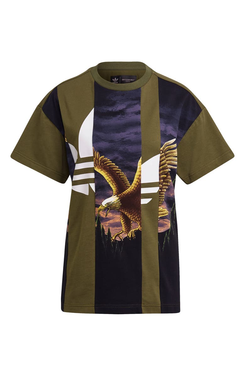 ADIDAS Mixed Graphic Tee, Main, color, WILD PINE