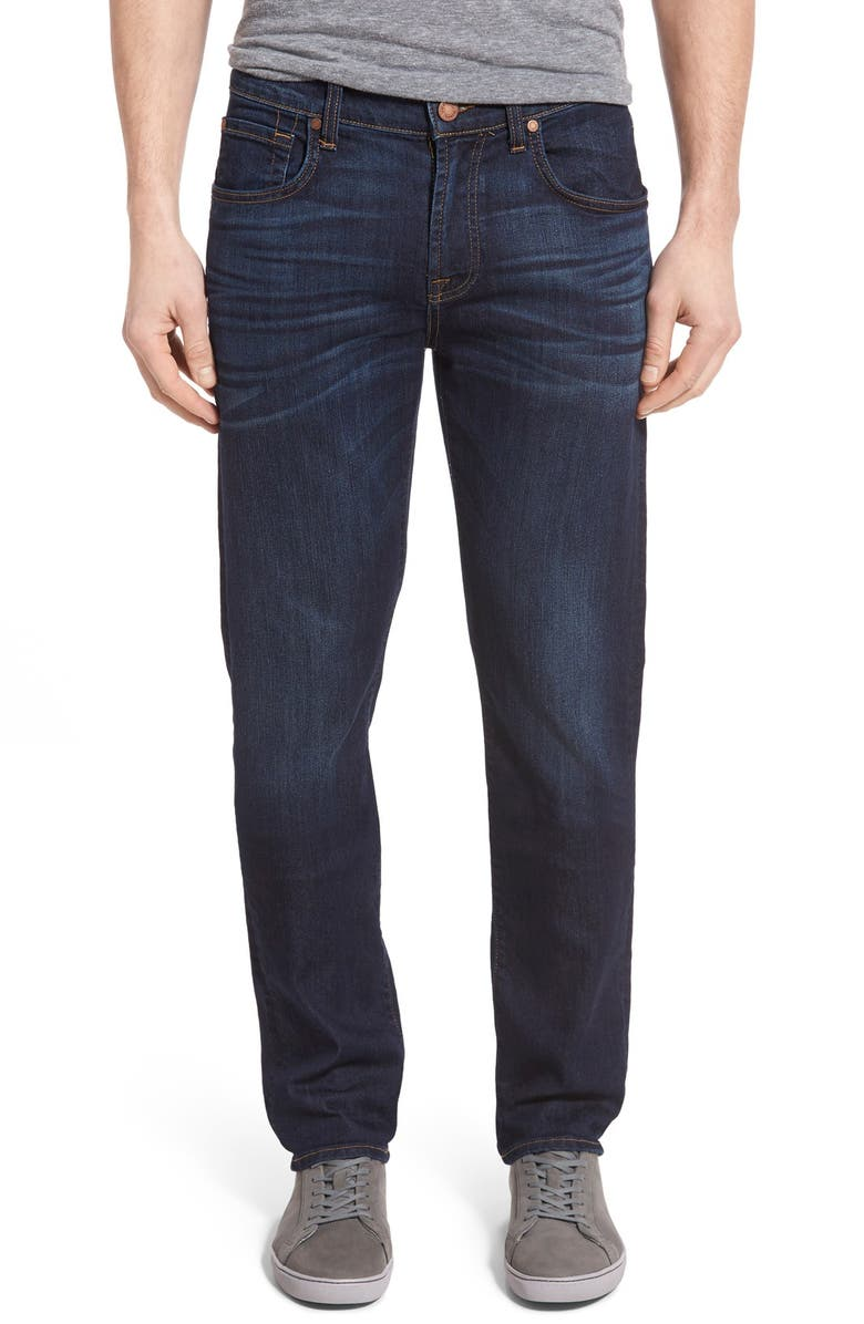 7 FOR ALL MANKIND The Straight Airweft Slim Straight Leg Jeans, Main, color, AIR WEFT COMMOTION