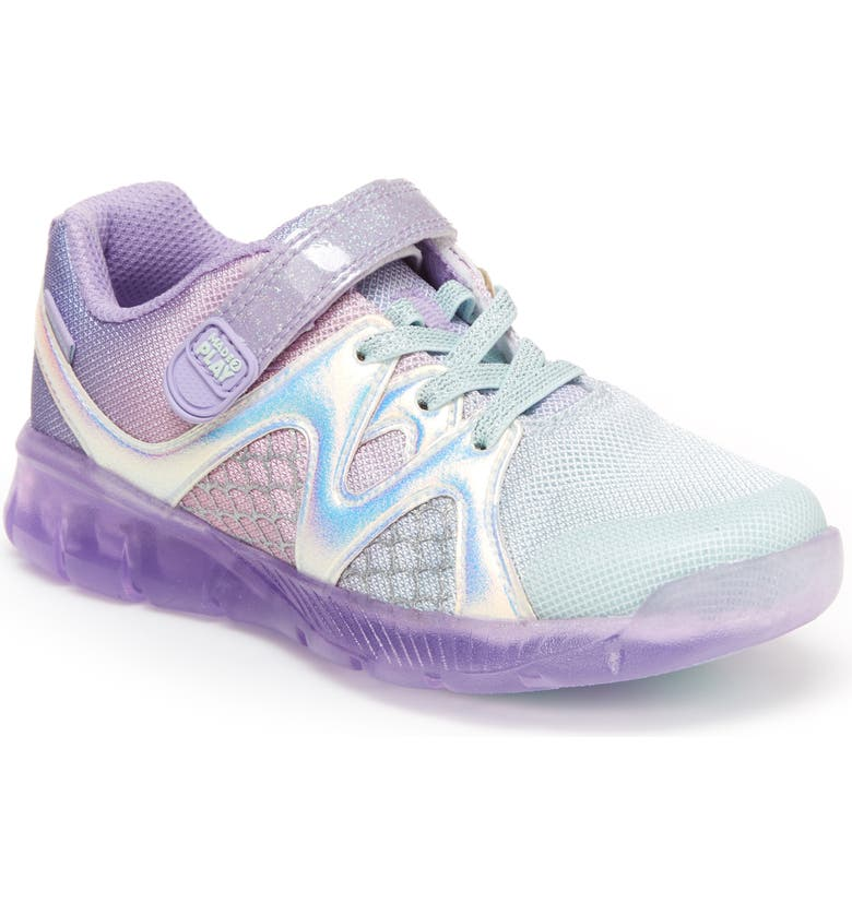 STRIDE RITE Made2Play<sup>®</sup> Mermaid Light-Up Sneaker, Main, color, PURPLE MULTI