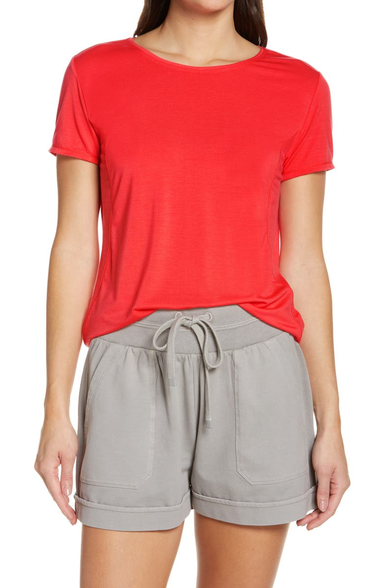 ZELLA Energy Strength T-Shirt, Main, color, RED HIBISCUS