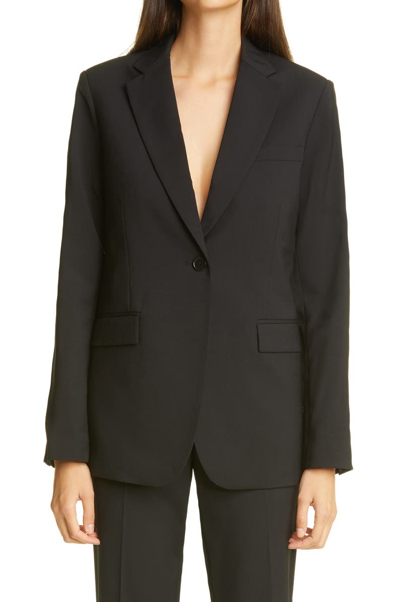 CO Single Breasted Wool Jacket, Main, color, BLACK