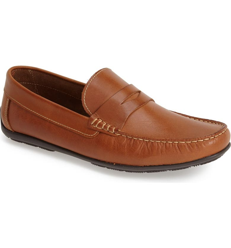 SANDRO MOSCOLONI 'Paris' Leather Penny Loafer, Main, color, TAN