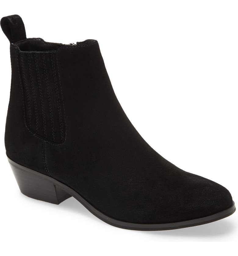 BLONDO Sydney Waterproof Bootie, Main, color, BLACK SUEDE