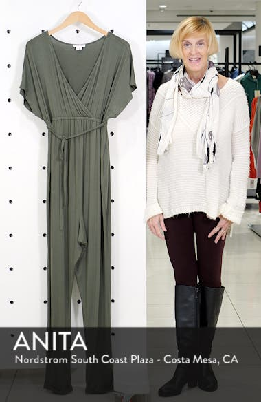 Crossover Maternity Jumpsuit, sales video thumbnail