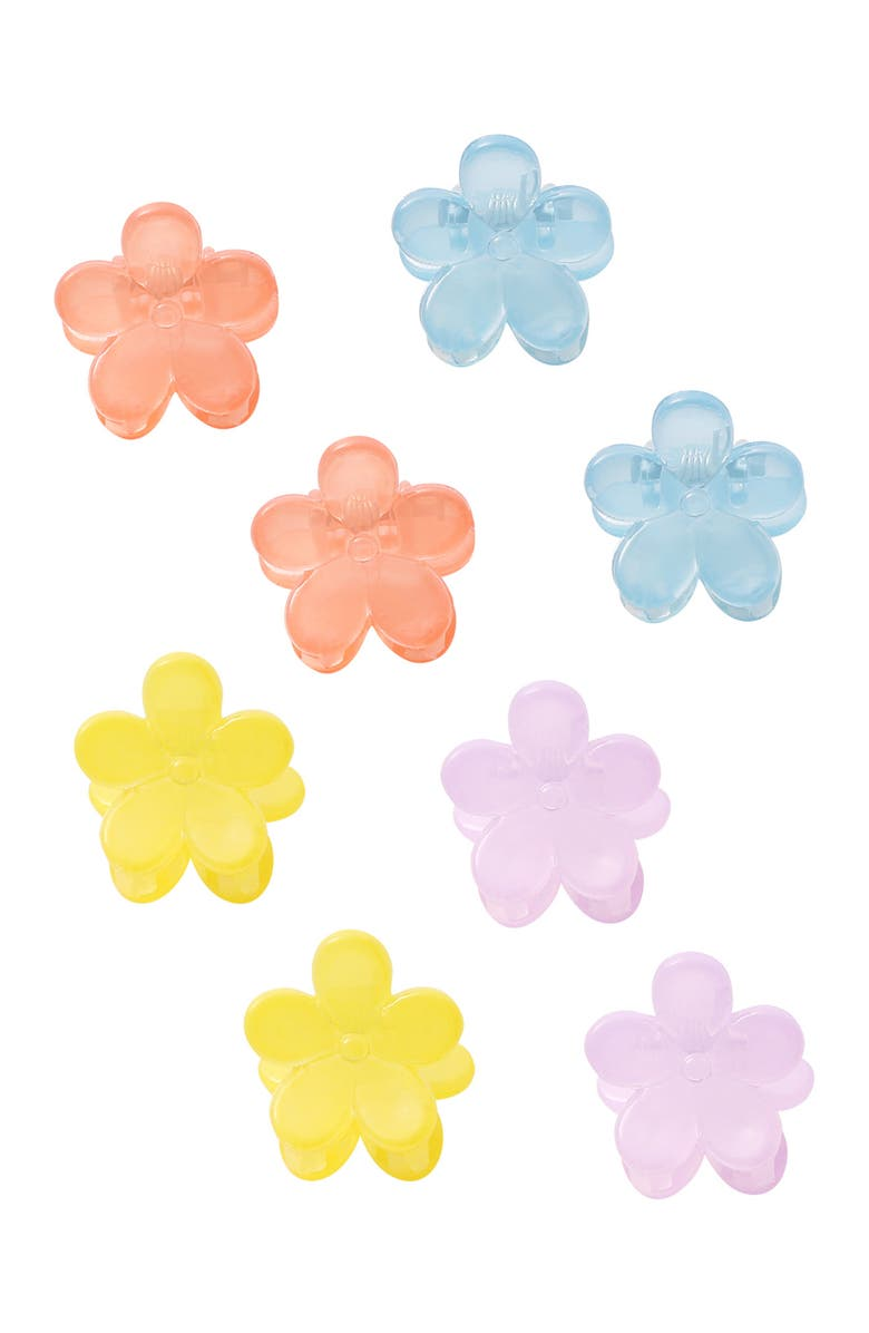 BERRY Flower Jaw Clip - Pack of 8, Main, color, MULTI