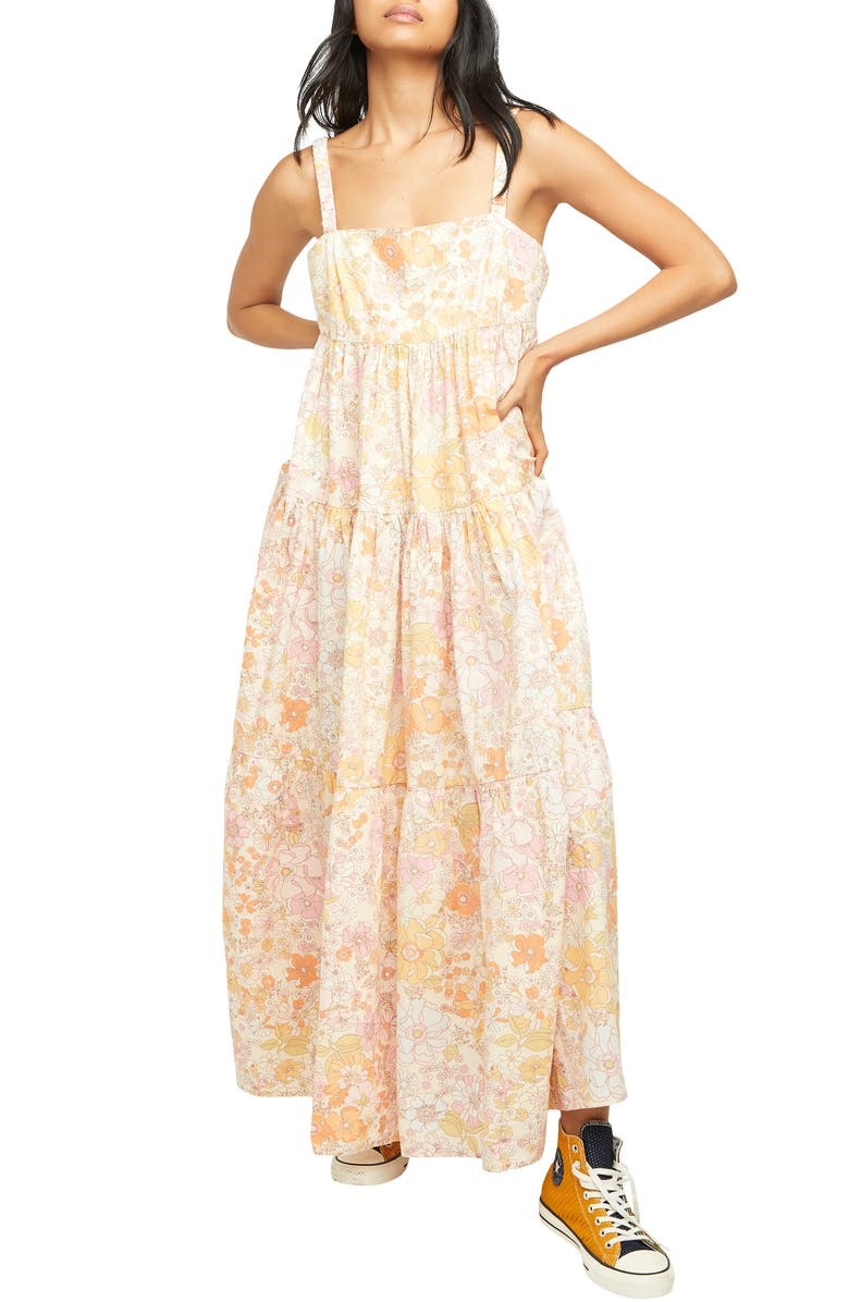 FREE PEOPLE Floral Maxi Sundress, Main, color, LIGHT COMBO