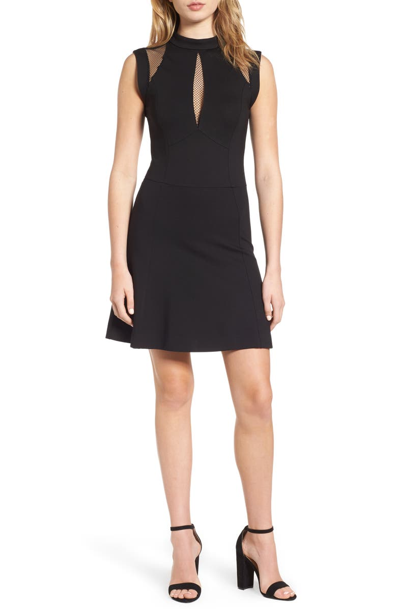 SENTIMENTAL NY Galactica Fit & Flare Dress, Main, color, 001