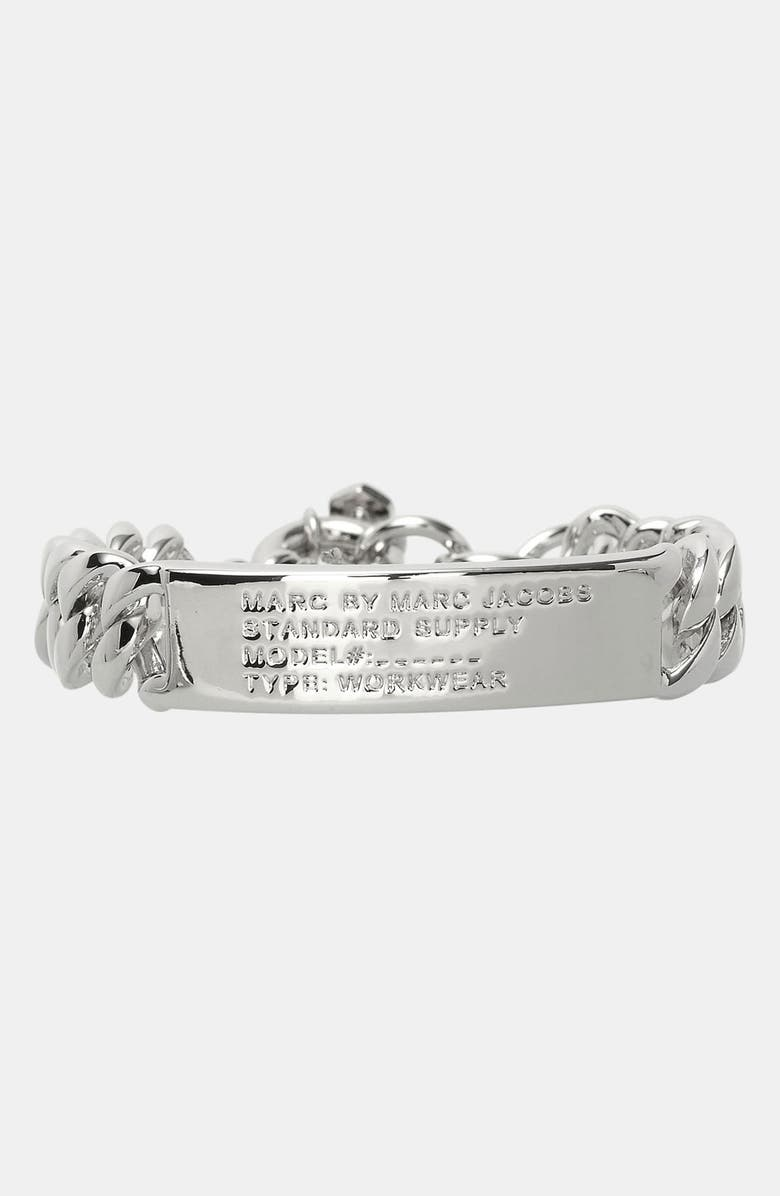 MARC BY MARC JACOBS 'Standard Supply' ID Bracelet, Main, color, Silver