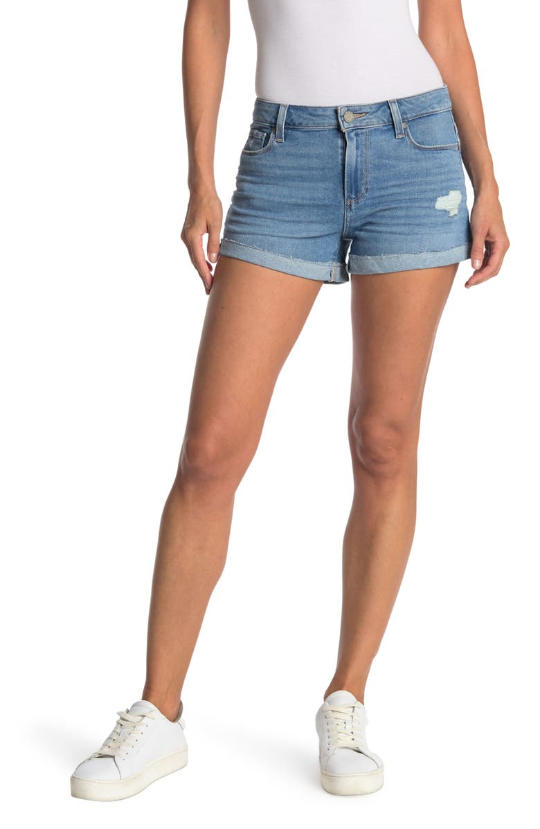 PAIGE Jimmy Distressed Shorts, Main, color, AMANZA DESTRUCTED