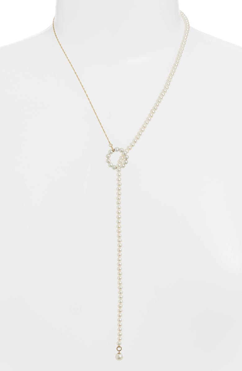 POPPY FINCH Pearl Lariat Necklace, Main, color, 710