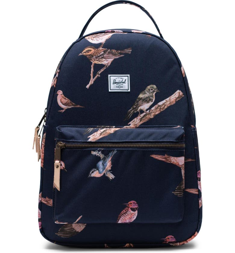 HERSCHEL SUPPLY CO. x Hello Kitty Nova Mid Volume Backpack, Main, color, PEACOAT BIRDS