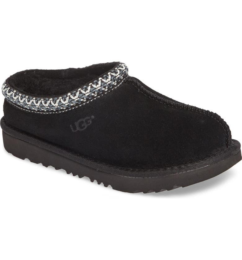 UGG<SUP>®</SUP> K-Tasman II Embroidered Slipper, Main, color, Black
