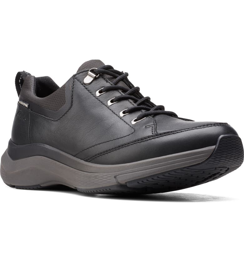 CLARKS<SUP>®</SUP> Wave 2.0 Vibe Sneaker, Main, color, BLACK TUMBLED LEATHER