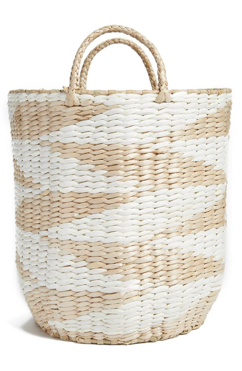 LEVTEX Diamond Straw Basket, Main, color, 100
