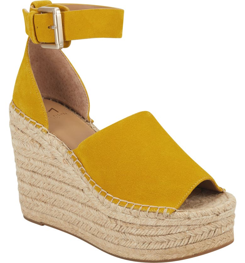 MARC FISHER LTD Adalyn Espadrille Wedge Sandal, Main, color, GIRASOLE SUEDE