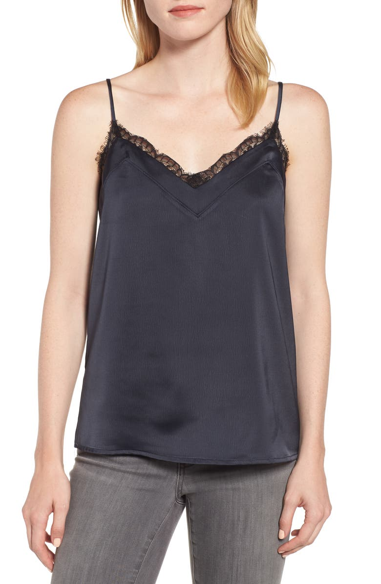 GIBSONLOOK Gibson Lace Trim Camisole, Main, color, 001