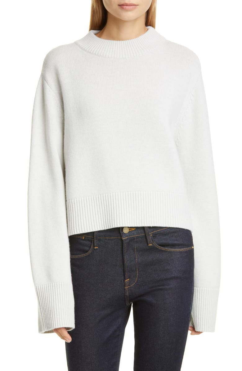 CO Bell Sleeve Wool & Cashmere Sweater, Main, color, DOVE GREY