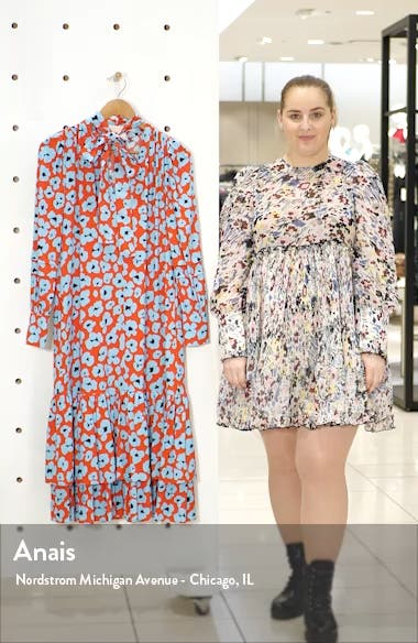 Good Witch Floral Long Sleeve Midi Dress, sales video thumbnail