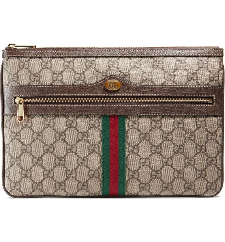GUCCI Ophidia GG Supreme Canvas Zip Pouch, Main, color, 284