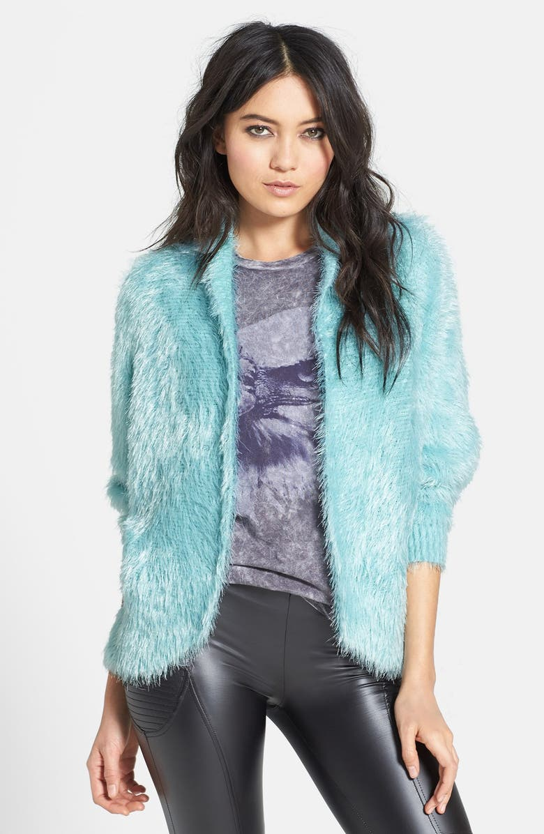 RAGA Dolman Sleeve Faux Fur Cardigan, Main, color, 400