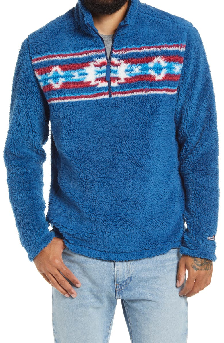 CHUBBIES One Prize Fits All Fleece Half-Zip Pullover, Main, color, NAVY