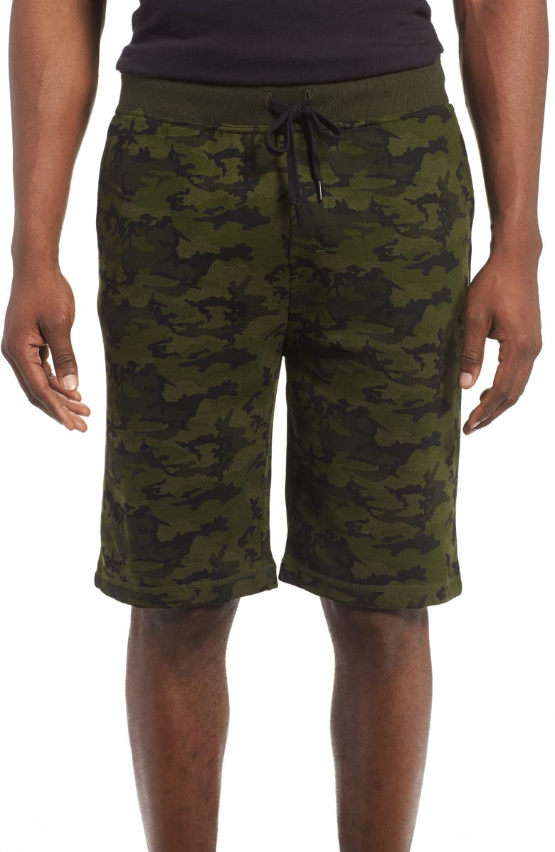 2(X)IST Terry Shorts, Main, color, OLIVE CAMO