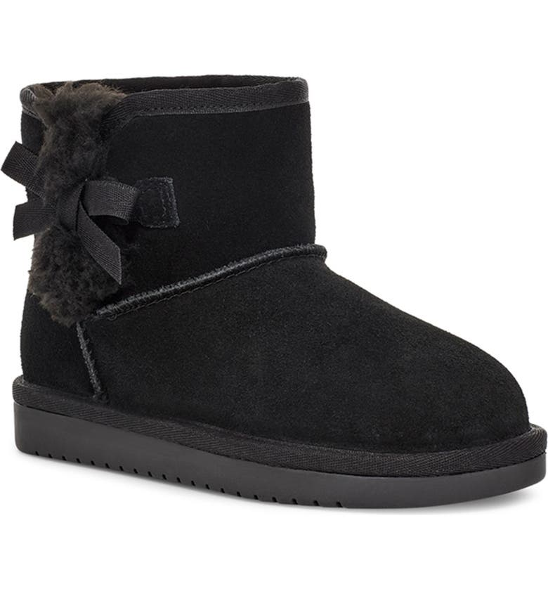 KOOLABURRA BY UGG Victoria Mini Faux Shearling Lined Boot, Main, color, BLK