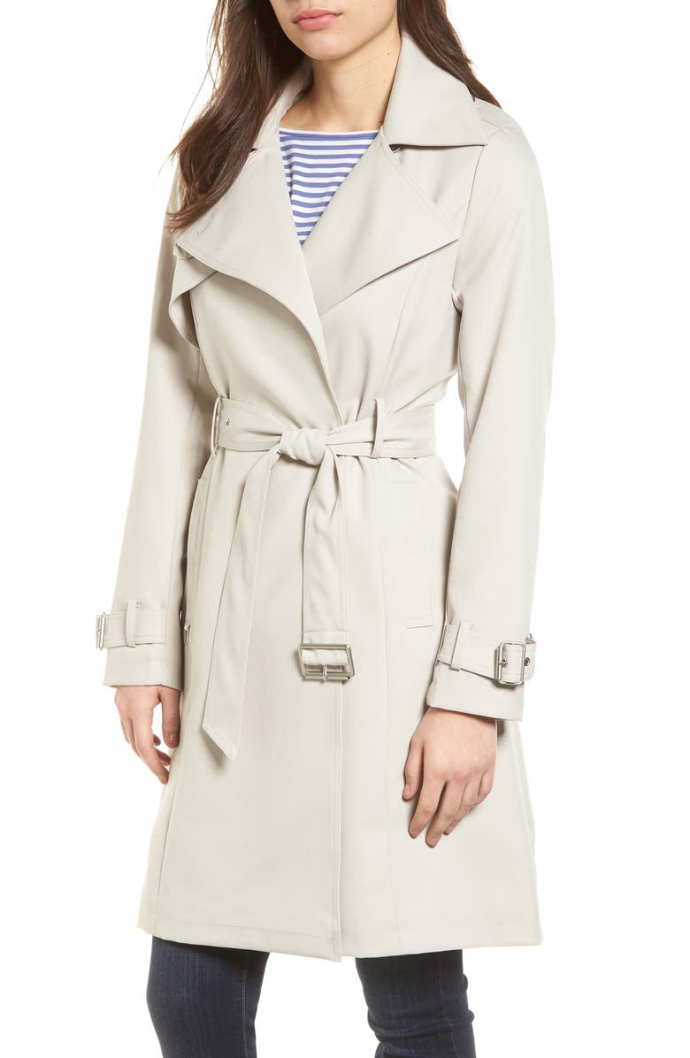 FRENCH CONNECTION Flowy Belted Trench Coat, Main, color, 284