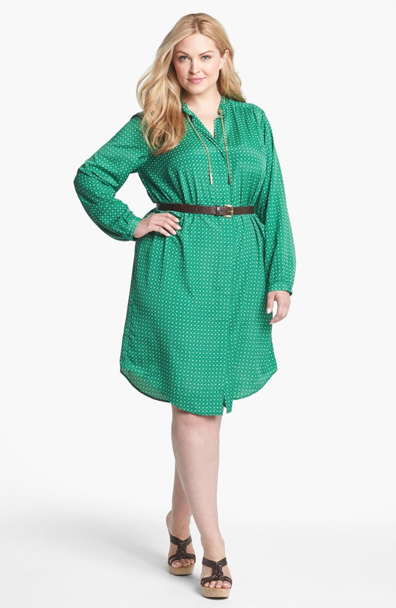 MICHAEL MICHAEL KORS Print Shirtdress, Main, color, 359