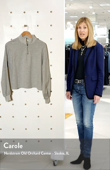 Blouson Sleeve Quarter Zip Sweatshirt, sales video thumbnail