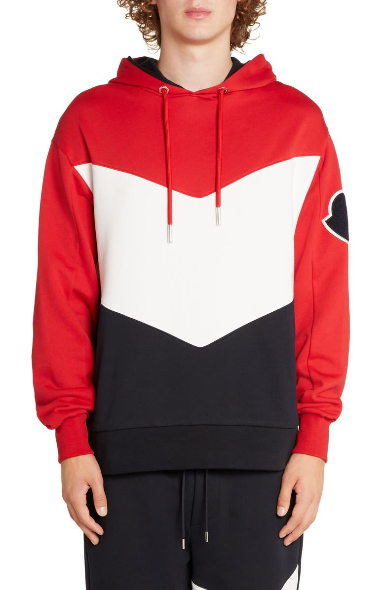 MONCLER Colorblock Hooded Sweatshirt, Main, color, 401