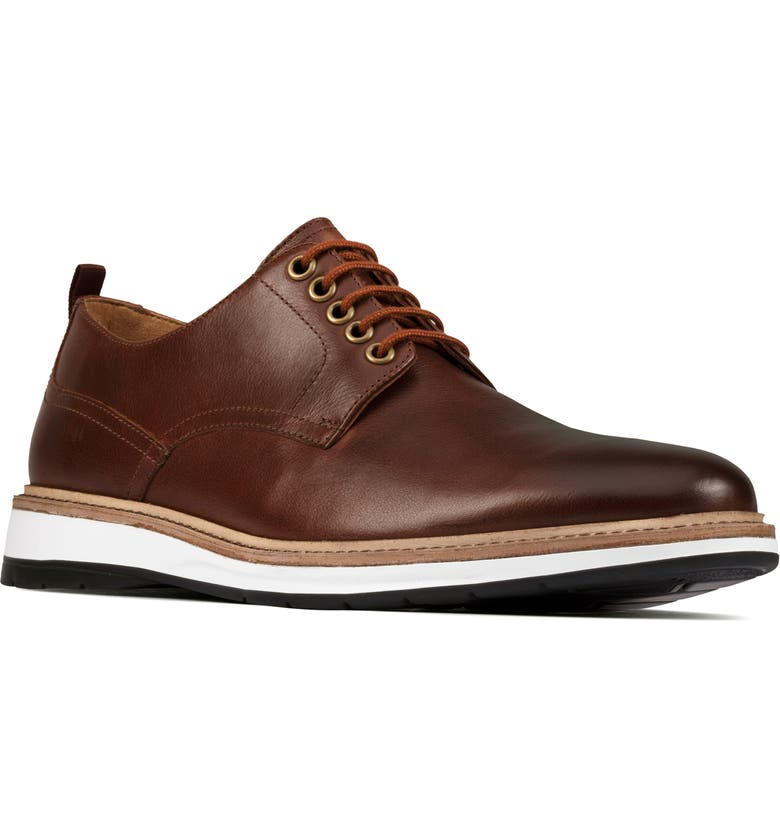 CLARKS<SUP>®</SUP> Chantry Plain Toe Derby, Main, color, DARK TAN LEATHER