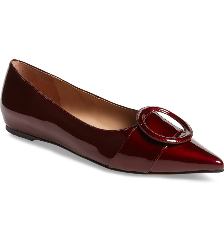LINEA PAOLO Niola Skimmer Flat, Main, color, BURGUNDY PATENT LEATHER