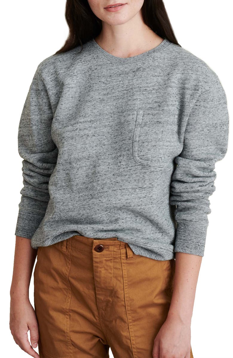 ALEX MILL Cotton French Terry Pocket Sweatshirt, Main, color, 060