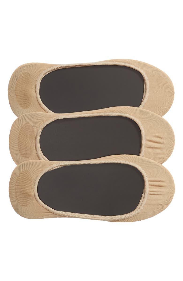 HUE 3-Pack Shade Match Sock Liners, Main, color, CREAM