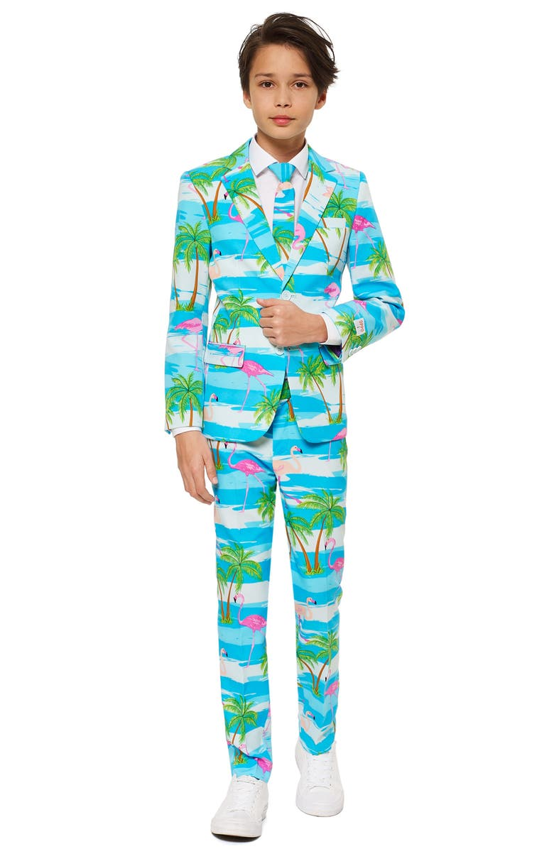OPPOSUITS Flaminguy Two-Piece Suit with Tie, Main, color, 440