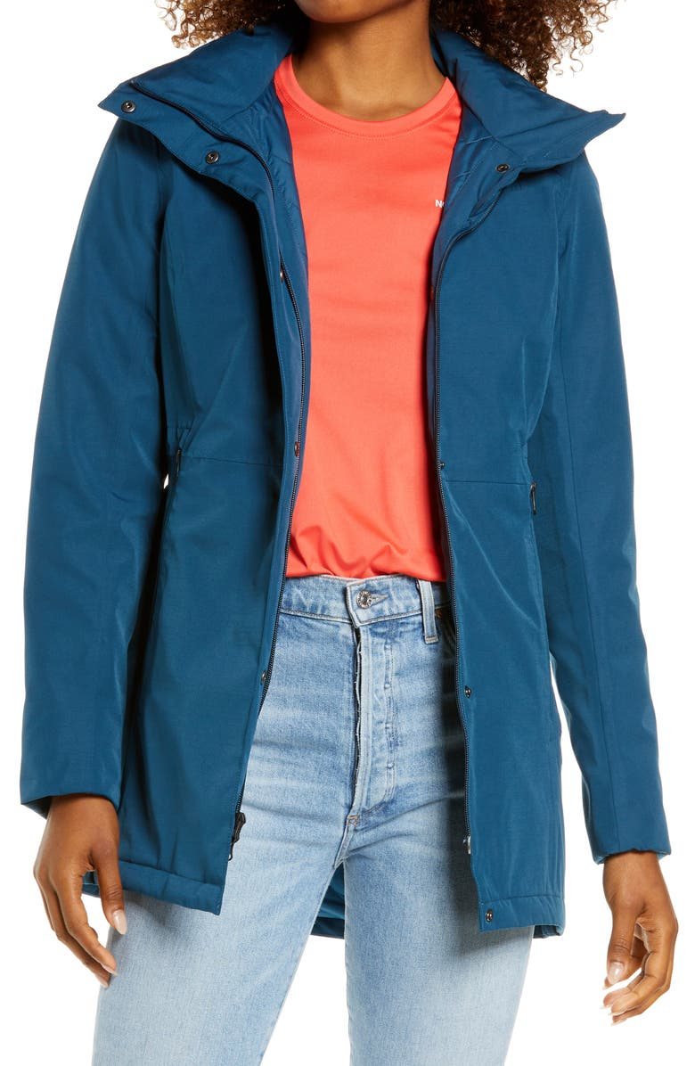 THE NORTH FACE Ancha Hooded Waterproof Parka, Main, color, MONTEREY BLUE