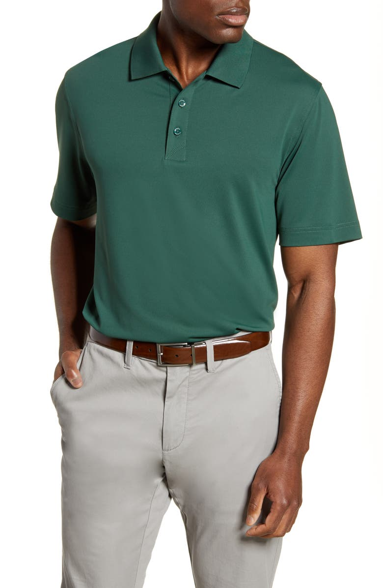 CUTTER & BUCK Forge DryTec Solid Performance Polo, Main, color, HUNTER
