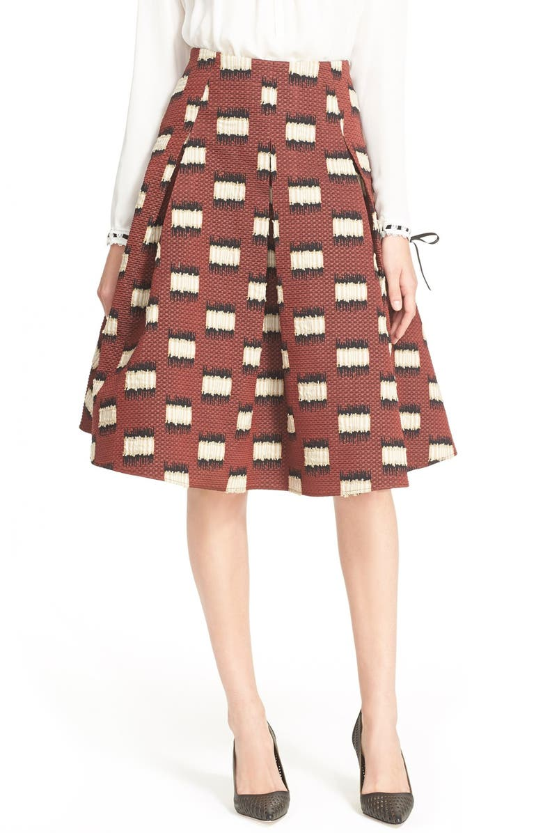 HUNTER BELL 'Maddy' A-Line Skirt, Main, color, WINEBERRY