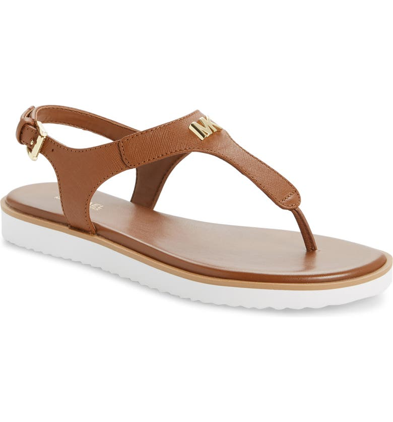 MICHAEL MICHAEL KORS Brady Sandal, Main, color, LUGGAGE