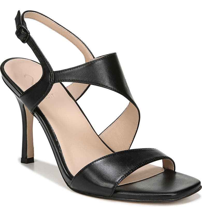 27 EDIT Lanie Sandal, Main, color, BLACK LEATHER