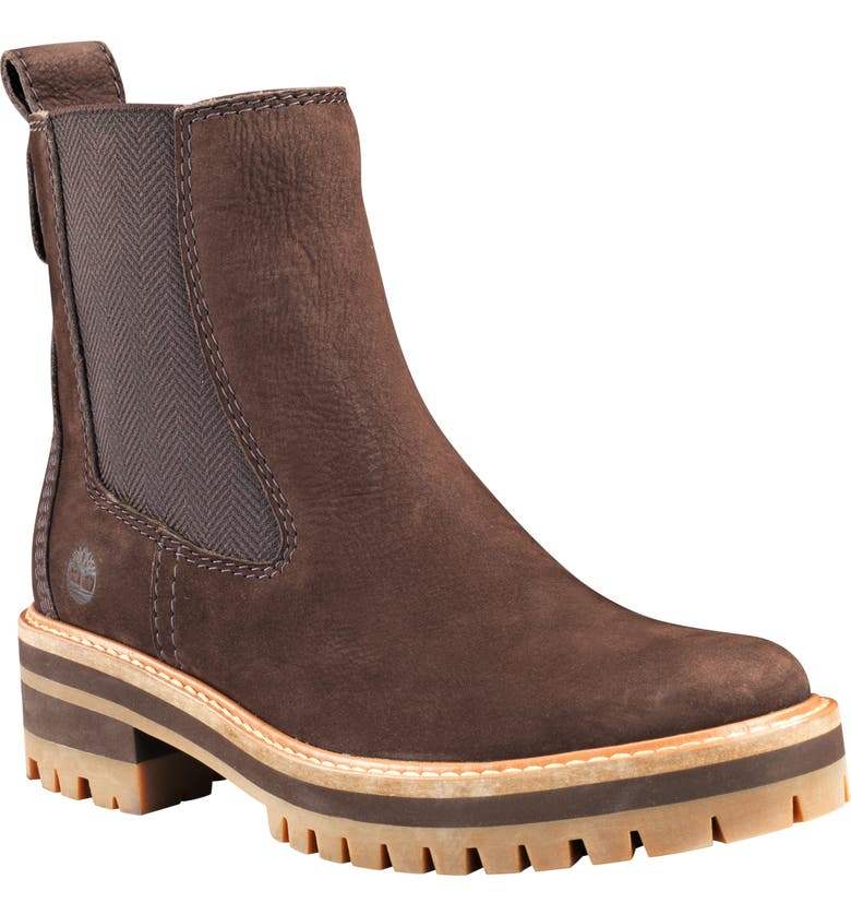TIMBERLAND Courmayeur Valley Chelsea Boot, Main, color, DARK BROWN NUBUCK LEATHER