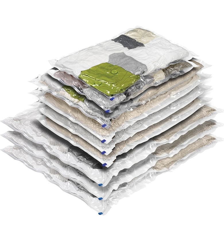 HONEY-CAN-DO 9-Pack Combo Set Vacuum Packs, Main, color, CLEAR
