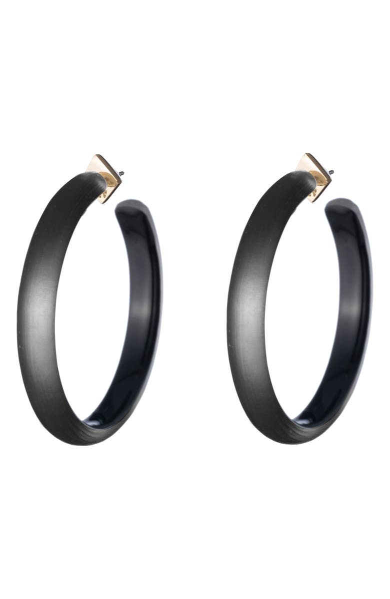ALEXIS BITTAR Large Lucite<sup>®</sup> Hoop Earrings, Main, color, 001