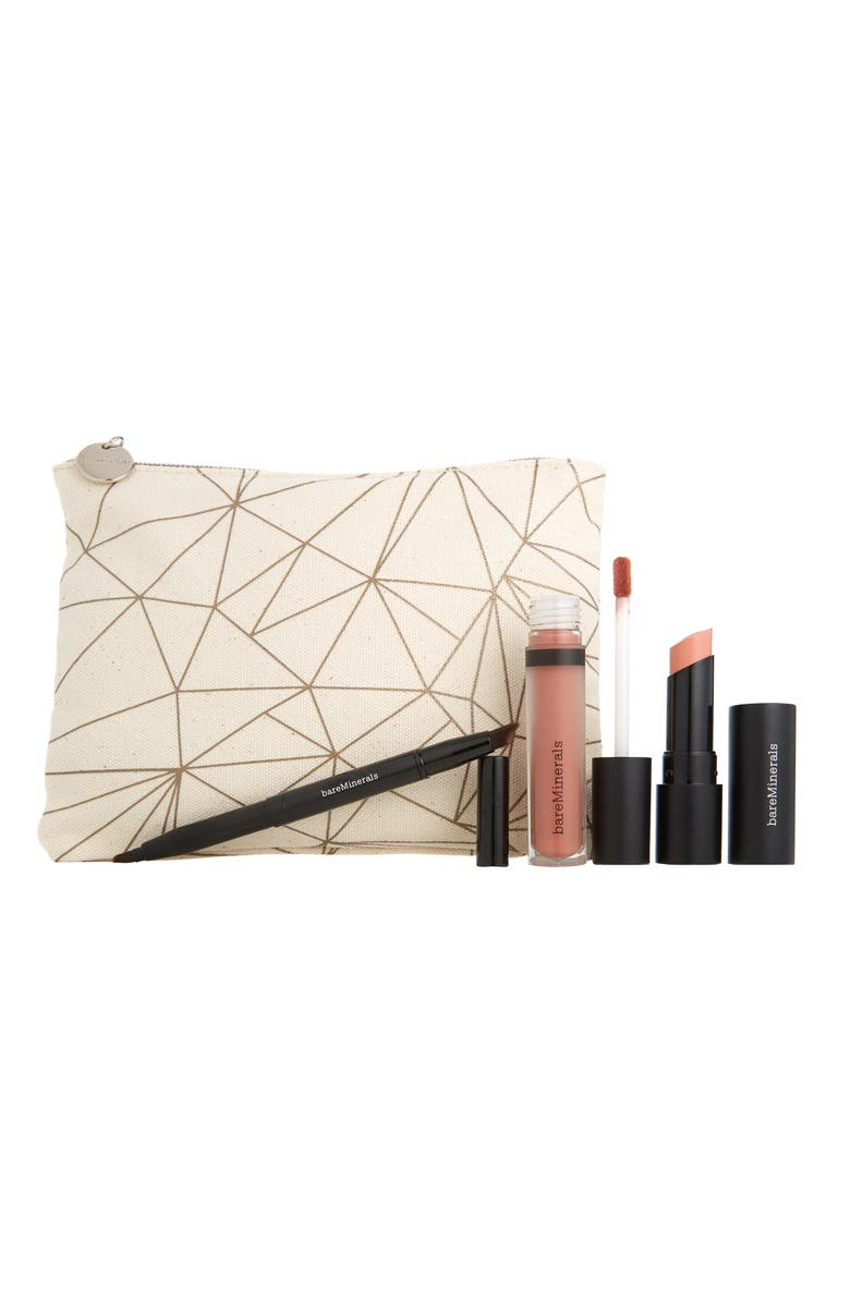 BAREMINERALS<SUP>®</SUP> Nude Lips to Love GEN NUDE<sup>®</sup> Lip Set, Main, color, No Color