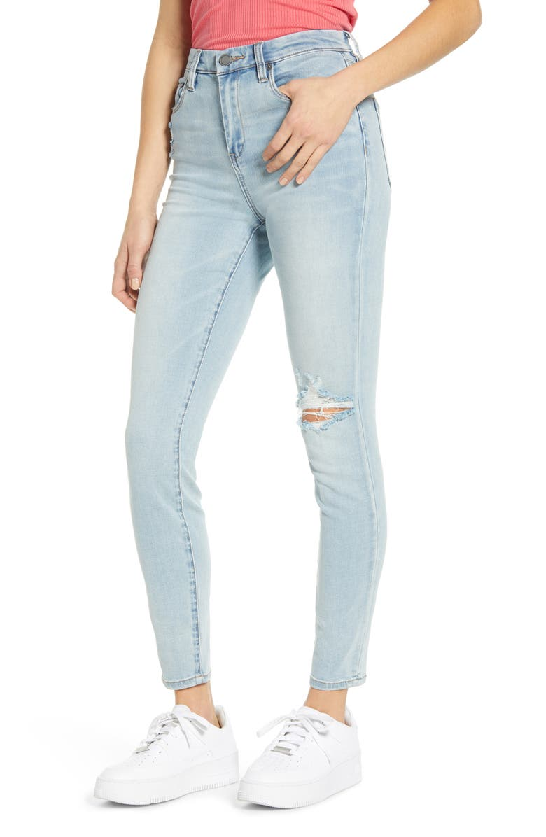 BLANKNYC The Great Jones High Waist Ripped Jeans, Main, color, DAYBREAK